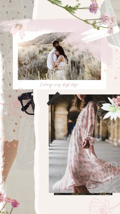 Instagram Story Maker with Flowers and Frames 2308l