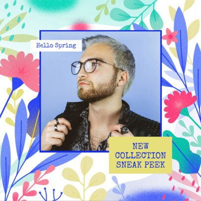 Instagram Post Generator Featuring a Spring-Themed Background 2309e