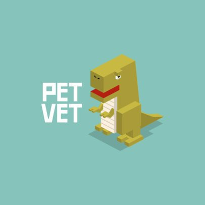 Logo Template with Isometric Animal Graphics 921-el1