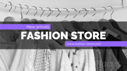 Minimal Facebook Cover Video Maker for Fashion Brands Featuring Sliding Animations 1233