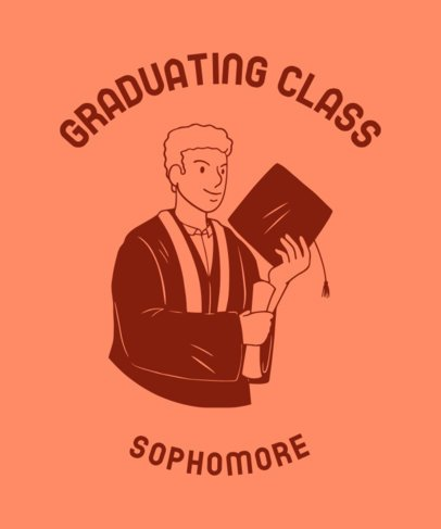 T-Shirt Design Featuring a Sophomore Graduate 2305f