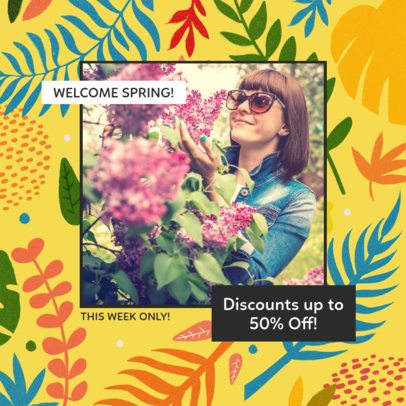 Instagram Post Creator with Tropical Flower Graphics 2309g