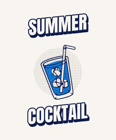 T-Shirt Design Template Featuring an Ice Drink Graphic 296a-el1