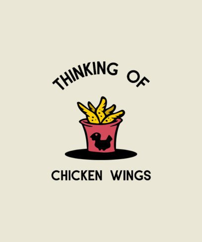 T-Shirt Design Creator Featuring a Chicken Wings Bucket 294C-el1