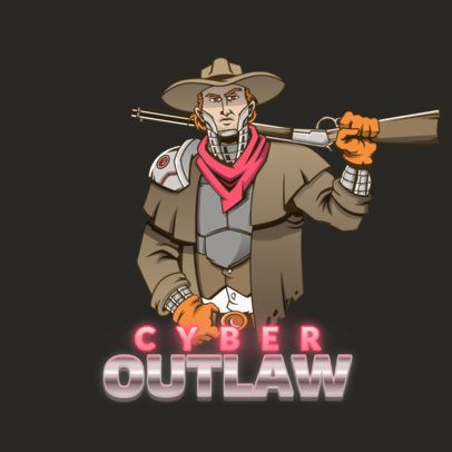 Logo Maker Featuring a Video Game Futuristic Cowboy 3000b