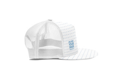Mockup of a Trucker Hat in a Plain Setting 3054-el1