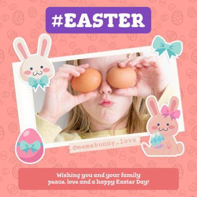 Instagram Post Maker Featuring Easter-Themed Frames 2323
