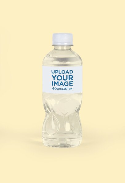 Mockup of a Water Bottle with a Customizable Background 3081-el1