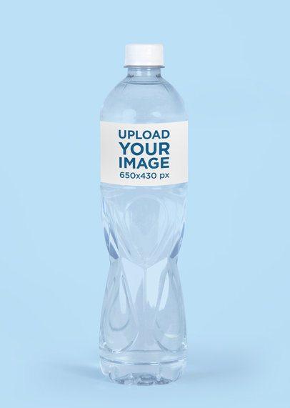 Water Bottle Mockup With a Plain Color Background 3083-el1