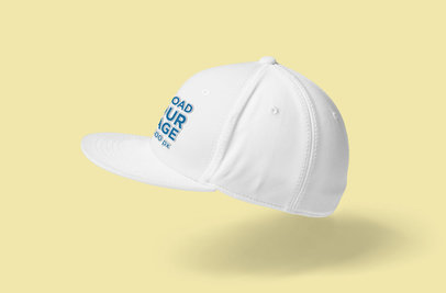 Mockup of a Floating Snapback Hat 3101-el1