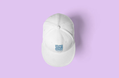 Mockup of a Snapback Hat Seen From Above 3102-el1