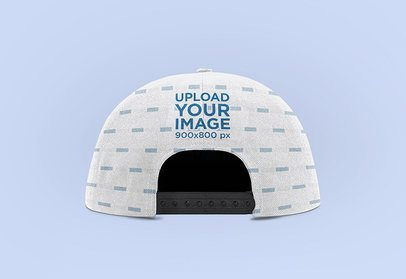Back-View Mockup Featuring a Sublimated Snapback Hat and a Plain Background 3042-el1
