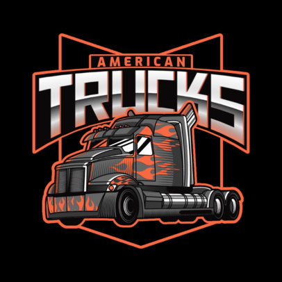 Logo Template for a Trucking Company with Aggressive Graphics 3014