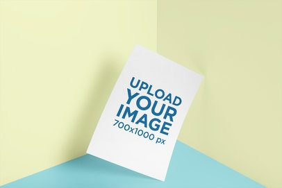 Mockup of an Angled Poster Placed on a Corner 3166-el1