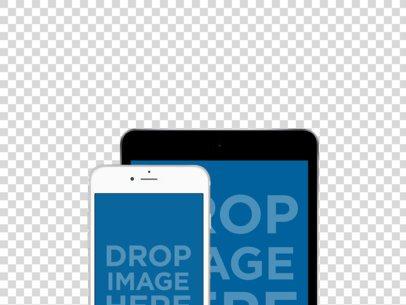 iPhone + iPad Mini Mockup in Portrait Position  a11879
