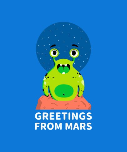 Kids T-Shirt Design Maker with Extraterrestrial Monsters 410a-el1