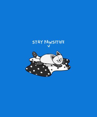 Illustration  T-Shirt Design Maker With a Sleeping Kitten Clipart 414c-el1
