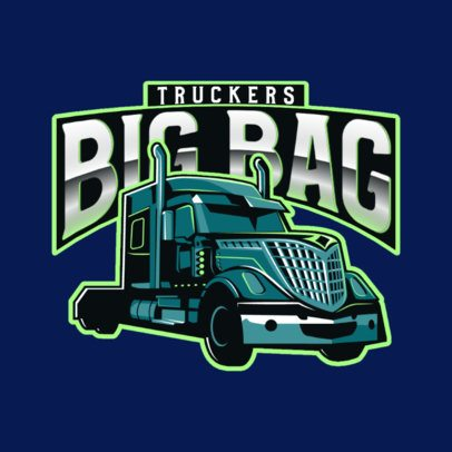Trucking Company Logo Maker with a Trailer Graphic 3014a