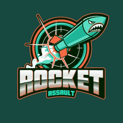 Logo Creator for a Battle Royale Team with a Rocket Graphic 3019g