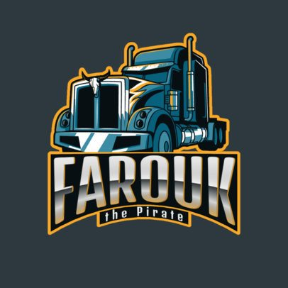 Logo Generator for a Moving Company with an Aggressive Truck Graphic 3014b