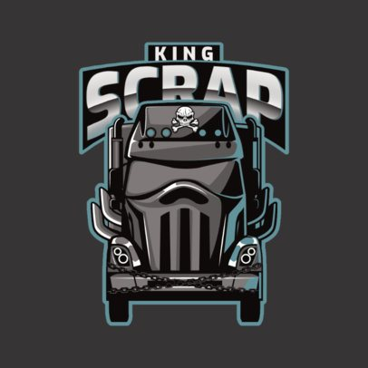 Moving Company Logo Creator with an Imposing Truck Illustration 3014c