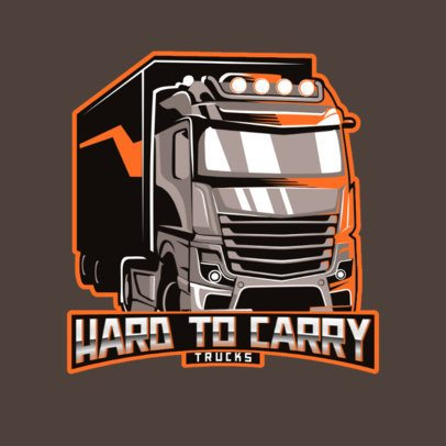 Moving Company Logo Template Featuring a Heavy Load Truck 3014e