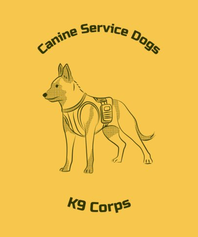 T-Shirt Design Generator with a Brave Service Dog Graphic 2316c