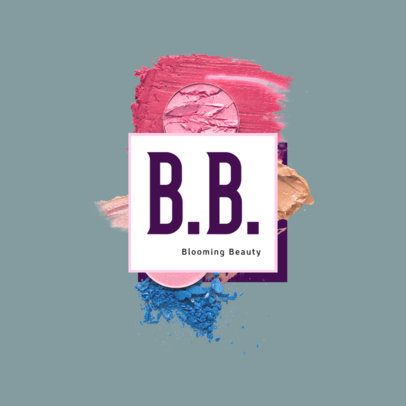 Logo Template for a Beauty Brand with Face Powder Graphics 3008d
