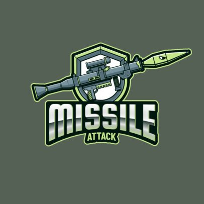 Gaming Logo Maker Featuring a Powerful Rocket Launcher 3019o