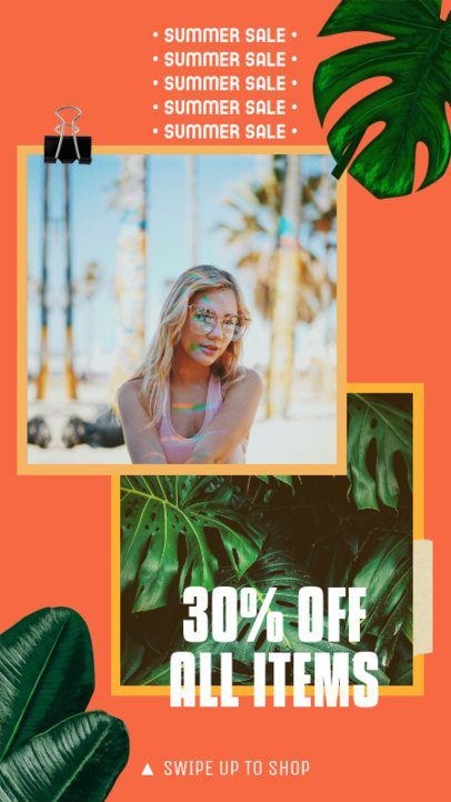 Instagram Story Maker for Summer Discounts 2320f