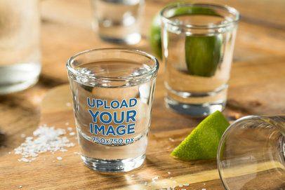 Shot Glass Mockup Featuring Lime and Salt 3212-el1