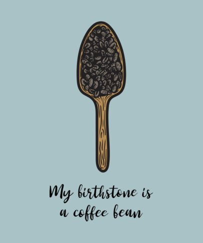 T-Shirt Design Generator with a Quote about Coffee 508c-el1