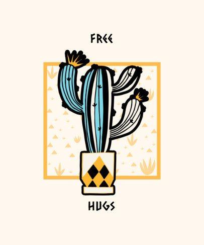 T-Shirt Design Template for a Hug Hater 528c-el1