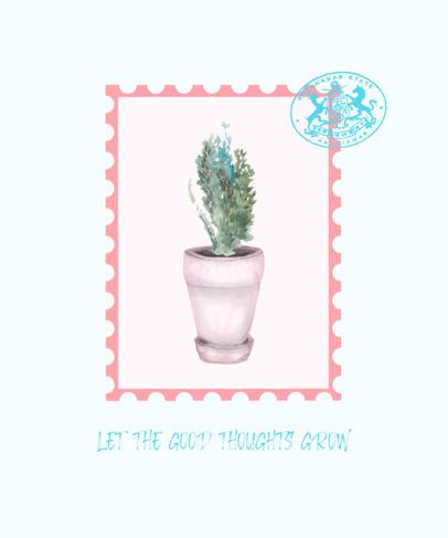 Quote T-Shirt Design Template for a Plantsman 526a-el1