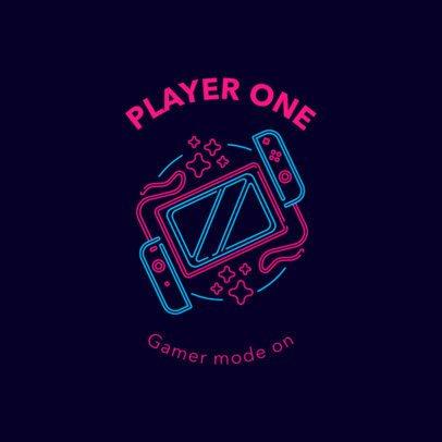Gaming Logo Maker Featuring Retro Neon Graphics 2982