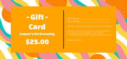 Gift Certificate Design Maker for a Pet Grooming Service 2342e