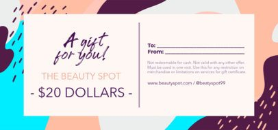 Gift Certificate Design Maker for Beauty Supplies Stores 2342b