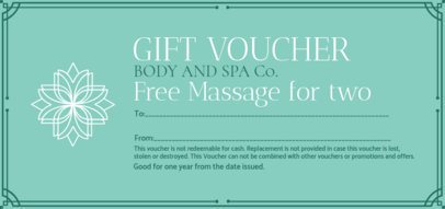 Spa Gift Voucher for a Free Massage 2340f