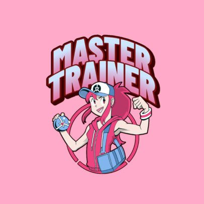 Logo Maker Featuring a Female Trainer Inspired By Pokemon 3041f