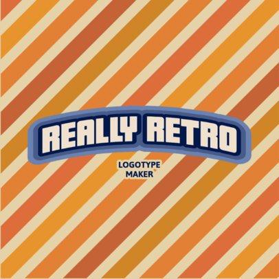 Retro Logo Template Featuring a Diagonal-Stripped Background 3029e