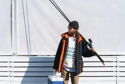 Sweatshirt Mockup of a Man with a Fishing Rod 3242-el1