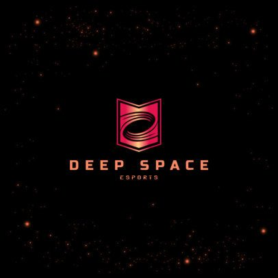 Space-Themed Logo Maker for Gaming Squads Featuring a Minimal Graphic 3035h