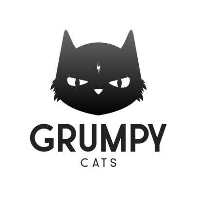 Gaming Logo Maker with a Minimalistic Grumpy Cat Icon 3044a