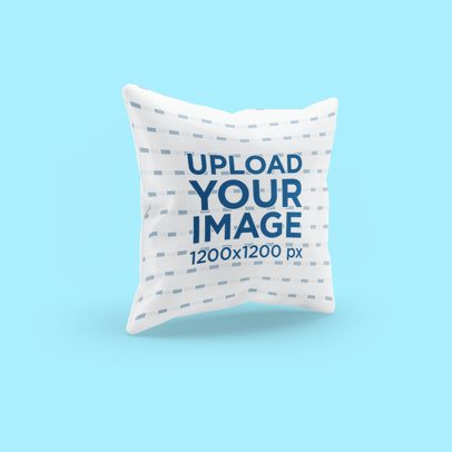 Mockup of a Pillow Floating Against a Customizable Background 3258-el1