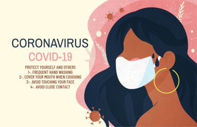 Online Flyer Template Featuring Coronavirus Prevention Tips 1676e 2392