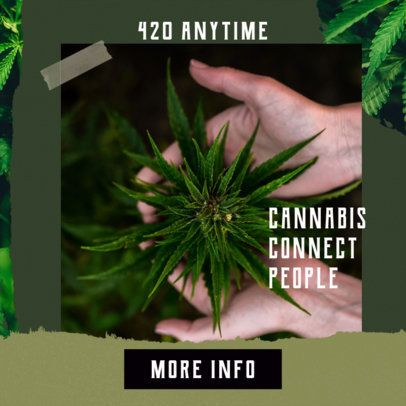 Ad Banner Design Template for a Cannabis Products Brand 2377