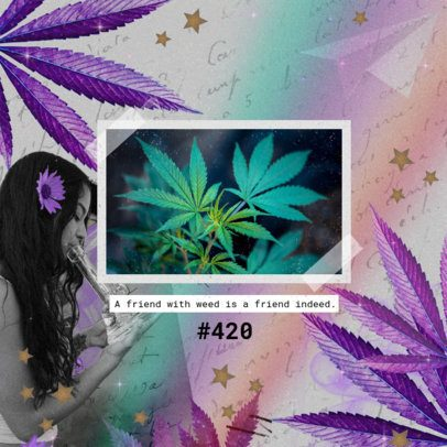420-Allusive Instagram Post Generator With a Cannabis Quote 2374l