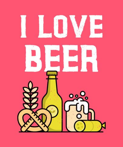 T-Shirt Design Creator for a Beer Enthusiast 570b-el1