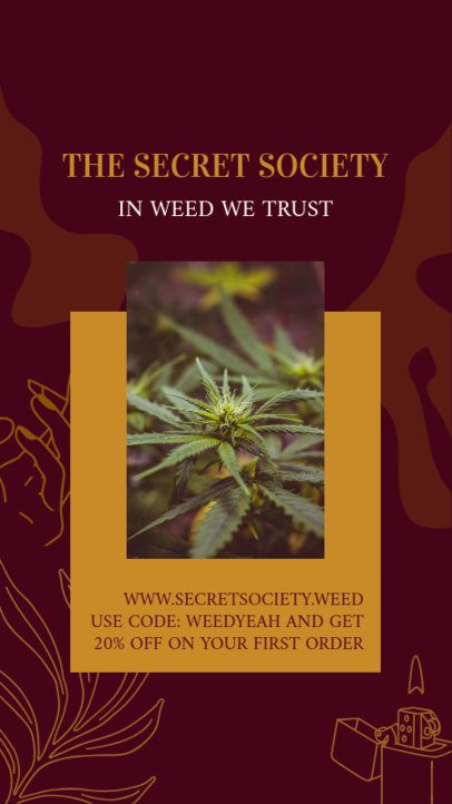 Instagram Story Generator Featuring Weed-Related Quotes 2373c