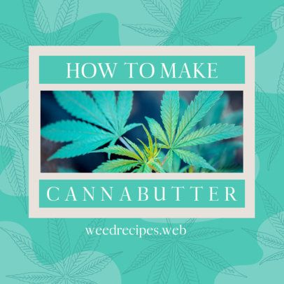 420-Themed Facebook Post Template with Cannabis Treat Recipes 2375c